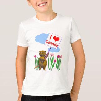 Le castor canadien aime le Canada T-shirt