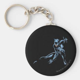 Le Catwoman se tapit Porte-clé Rond