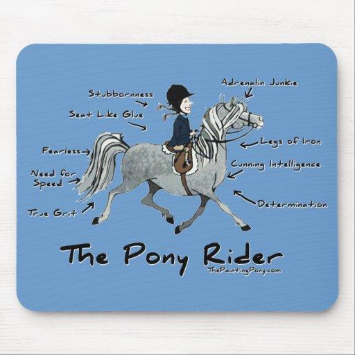 Le cavalier de poney tapis de souris zazzle for Surface minimum bureau code du travail