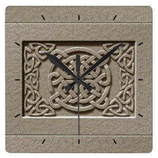Le Celtic en pierre découpé décoratif noue Horloge Carrée