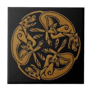 Le Celtic poursuit le regard en bois d'ornement Petit Carreau Carré