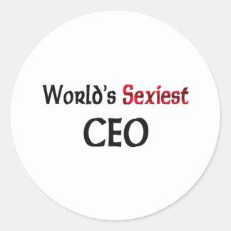 Le CEO le plus sexy du monde Autocollant Rond