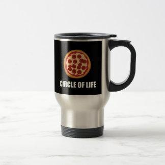 Le cercle de la pizza de la vie mug de voyage