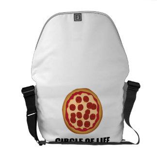Le cercle de la pizza de la vie sacoche