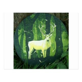Le cerf blanc carte postale