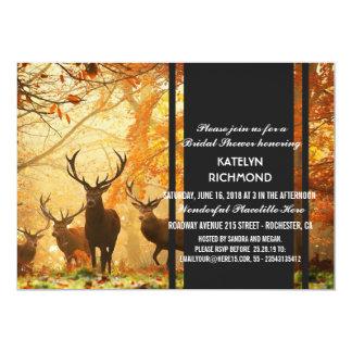 Le cerf commun dans le soleil d'automne rayonne carton d'invitation  12,7 cm x 17,78 cm