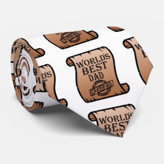 Le certificat certifié le meilleur par papa de cravates