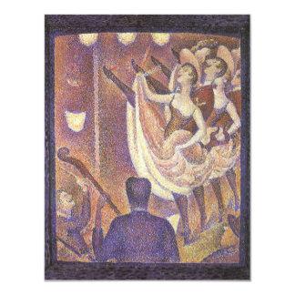 Le Chahut, Pouvoir-Peut danser par Georges Seurat Carton D'invitation 10,79 Cm X 13,97 Cm