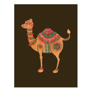 Le chameau ethnique carte postale