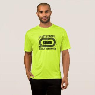 Le champ de voie distance moyenne de 800 mètres t-shirt