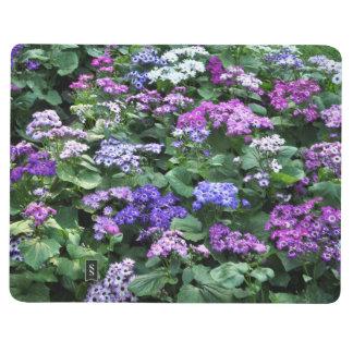 Le champ du pourpre fleurit le carnet