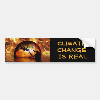"""Le """"changement climatique est Real avec la terre Autocollant Pour Voiture"""