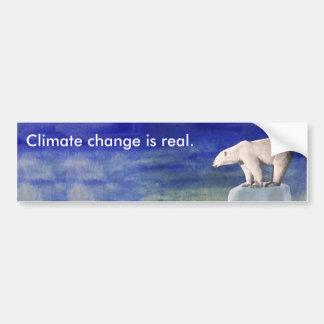 Le changement climatique est vrai adhésif pour autocollant de voiture