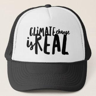 Le changement climatique est vrai casquette de
