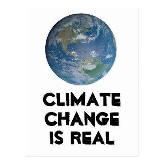 Le changement climatique est vrai. Protégez Carte Postale