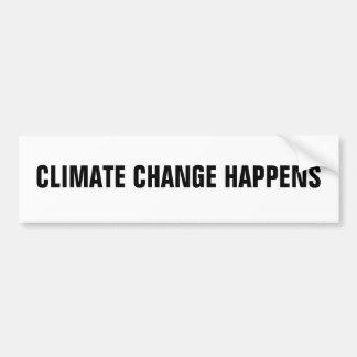 LE CHANGEMENT CLIMATIQUE SE PRODUIT AUTOCOLLANT POUR VOITURE