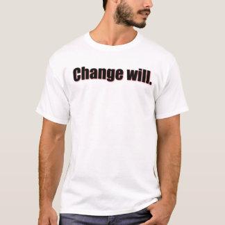 Le changement va le faire t-shirt