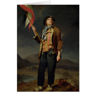 Le chanteur Chenard, comme a Sans-Culotte, 1792 Carte De Vœux