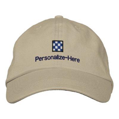 Le chapeau du chapeau en paille personnalisé nauti casquette brodée