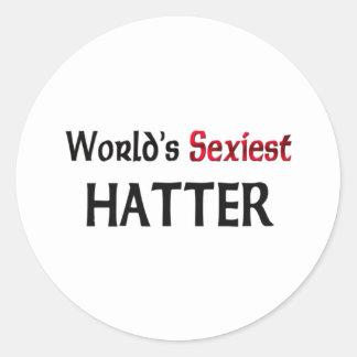 Le chapelier le plus sexy du monde autocollants
