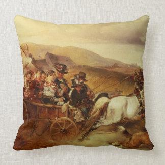 Le chariot de mariage oreiller
