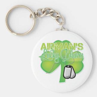 Le charme chanceux de l'aviateur porte-clé rond