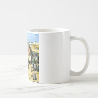 Le charpentier et les morses considèrent des mug
