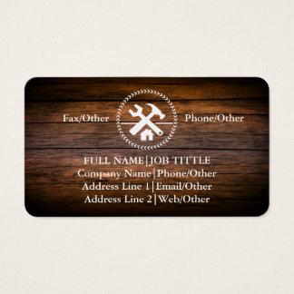 Le charpentier professionnel de constructeur usine cartes de visite