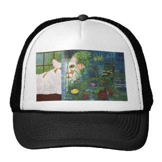 Le chat aquatique casquettes