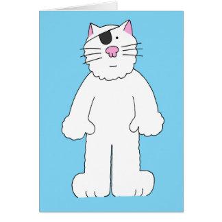 Le chat avec la correction d'oeil dessus, carte de vœux