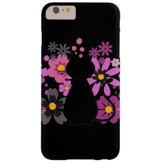 Le chat dans le rose fleurit IPhone 6+Cas de /6S à Coque iPhone 6 Plus Barely There