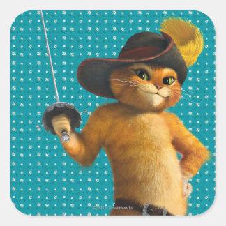 Le chat de CG. ondule l'épée Sticker Carré
