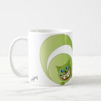 Le chat de Cheshire de tasse, apprécient