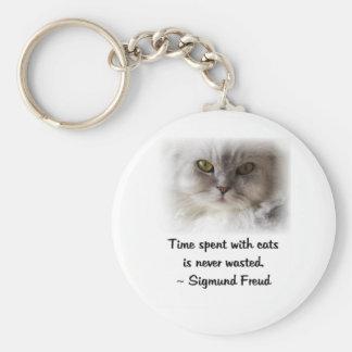 Le chat de Freud Porte-clé Rond