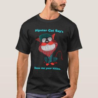 Le chat de hippie indique t-shirt