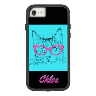 Le chat de Kitty avec des verres appellent le Coque Case-Mate Tough Extreme iPhone 7