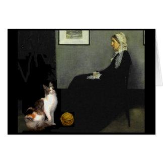 Le chat de la mère de Whistler Carte De Vœux