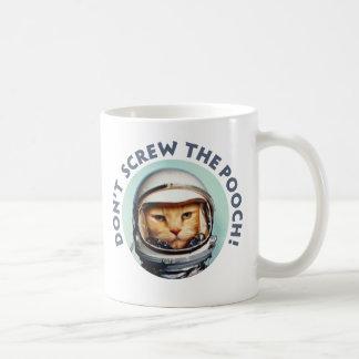 """Le chat de l'espace """"tasse ne vissent pas cabot"""" mug"""