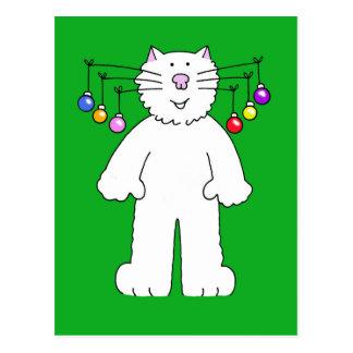 Le chat de Noël, babioles pendant de lui est des Carte Postale