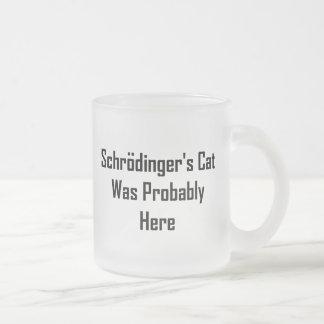 Le chat de Schrodinger était probablement ici Tasses