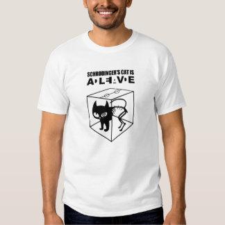 Le chat de Schrodinger VIVANT T-shirts