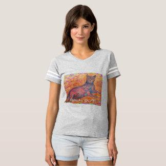 le chat ensoleillé de pavé rond refroidissent t-shirts