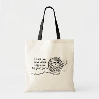 Le chat fâché aime le fil sac en toile