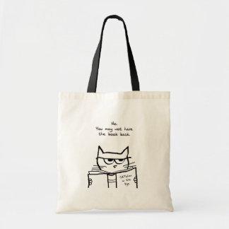 Le chat fâché vole votre livre - sac fourre-tout