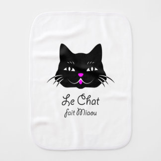 Le chat français mignon indique le Meow ! Linges De Bébé
