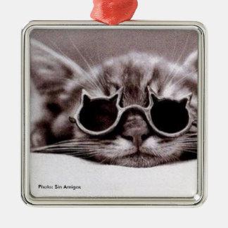 Le chat le plus frais vivant - ornement en métal