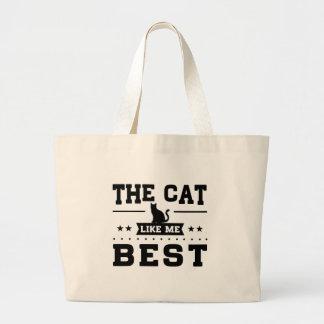 Le chat m'aiment meilleur grand sac