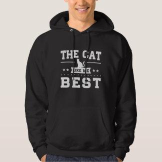 Le chat m'aiment meilleur veste à capuche