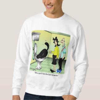 Le chat ne peut pas manipuler des enterrements de sweatshirt