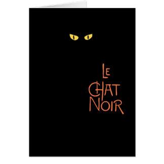 Le Chat Noir dans l'obscurité Carte De Vœux